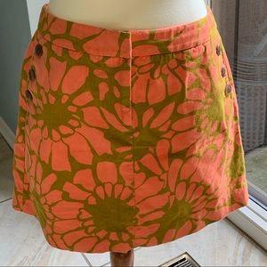 J. Crew cotton mini skirt
